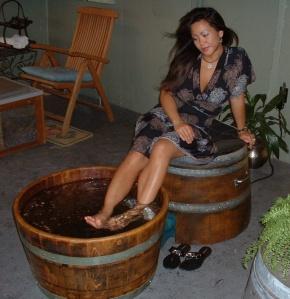 Wine Barrel Foot Spa