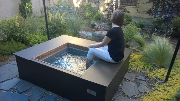 Ashiyu in northwest Portland has this spacious deluxe model spa in the garden.